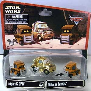 CARS 2014 USAディズニーテーマパーク限定 LUIGI AS C-3PO & PITTIES AS JAWAS