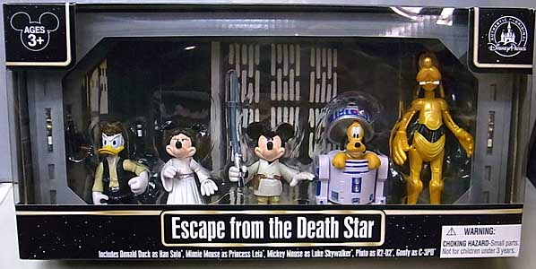 STAR WARS USAディズニーテーマパーク限定 フィギュア ESCAPE FROM THE DEATH STAR 5PACK ワケアリ特価