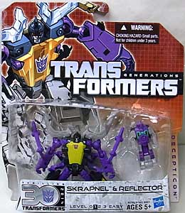 HASBRO TRANSFORMERS GENERATIONS LEGENDS CLASS SKRAPNEL & REFLECTOR ブリスターハガレ特価