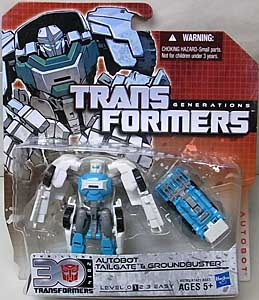 HASBRO TRANSFORMERS GENERATIONS LEGENDS CLASS AUTOBOT TAILGATE & GROUNDBUSTER