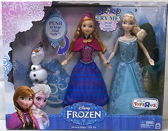 MATTEL DISNEY FROZEN USAトイザラス限定 12インチ MUSICAL MAGIC GIFT SET