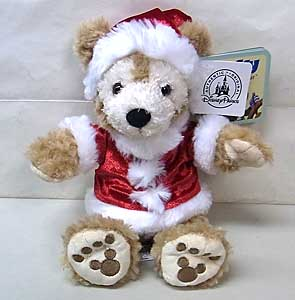 DISNEY USAディズニーテーマパーク限定 DUFFY THE DISNEY BEAR 9INCH SANTA DUFFY