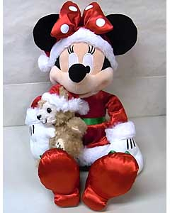 DISNEY USAディズニーテーマパーク限定 DUFFY THE DISNEY BEAR 15INCH SANTA MINNIE WITH DUFFY
