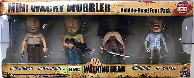 FUNKO MINI WACKY WOBBLER THE WALKING DEAD TV 4PACK