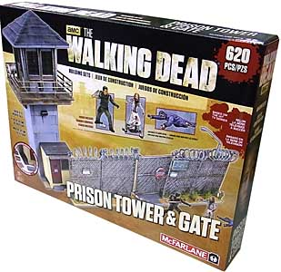 McFARLANE TOYS THE WALKING DEAD TV USA TOYSRUS限定 BUILDING SETS PRISON TOWER & GATE パッケージ傷み特価