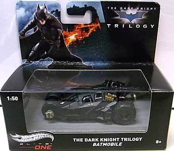 MATTEL HOT WHEELS 1/50スケール ELITE ONE THE DARK KNIGHT TRILOGY THE DARK KNIGHT TRILOGY BATMOBILE