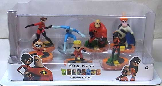 USA DISNEY STORE 限定 FIGURINE PLAYSET THE INCREDIBLES パッケージワレ特価