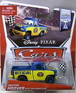 MATTEL CARS 2014 シングル DEXTER HOOVER WITH CHECKERED FLAG