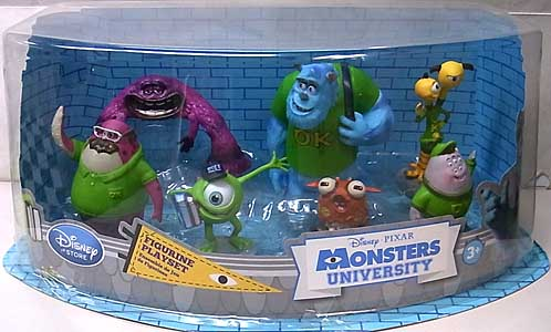 USA DISNEY STORE 限定 FIGURINE PLAYSET MONSTERS UNIVERSITY
