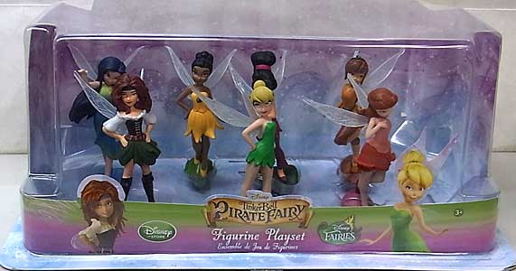 USA DISNEY STORE 限定 FIGURINE PLAYSET TINKERBELL AND THE PIRATE FAIRY ワケアリ特価