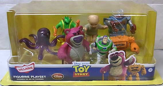 USA DISNEY STORE 限定 FIGURINE PLAYSET TOY STORY [VILLAINS] パッケージワレ特価