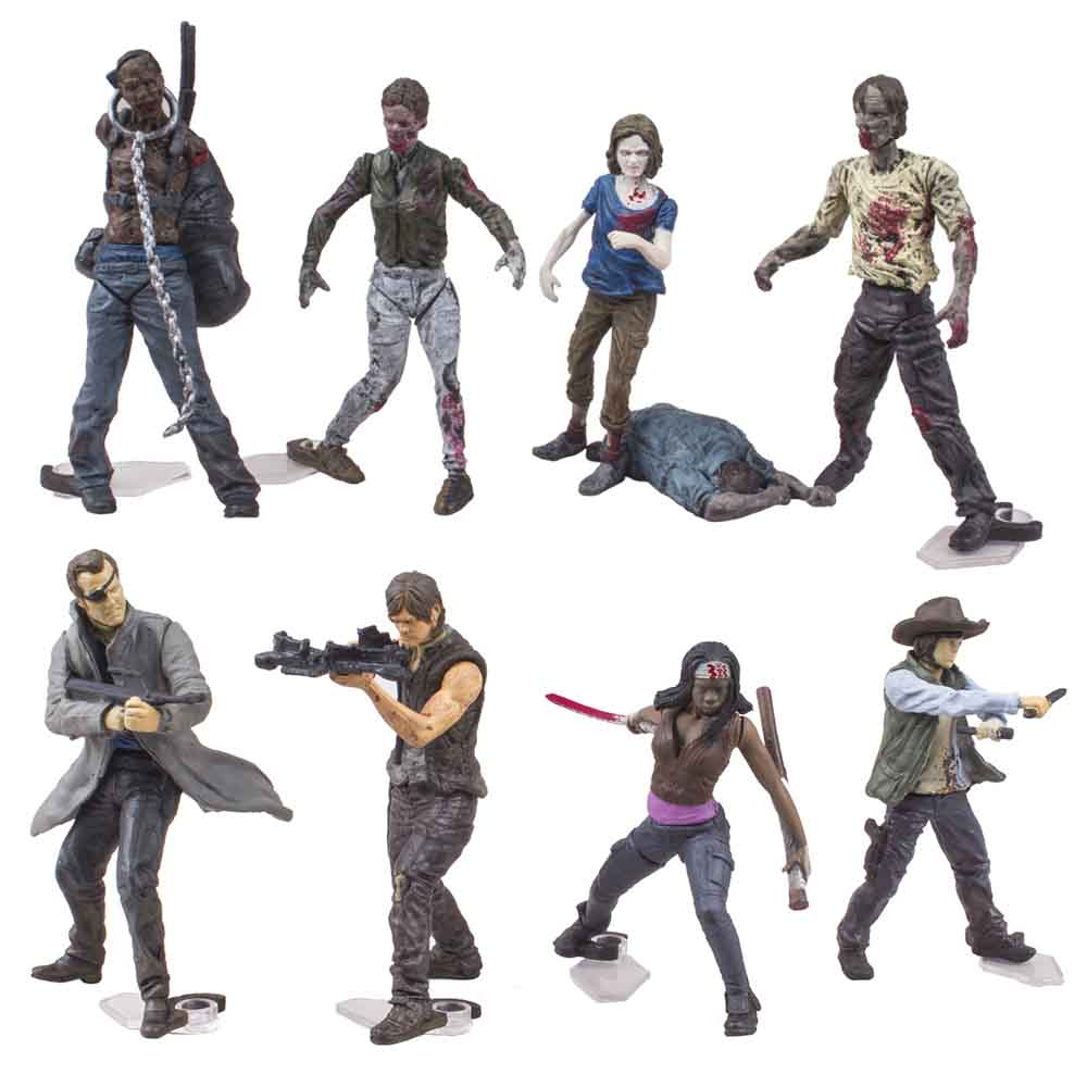 McFARLANE TOYS THE WALKING DEAD TV BUILDING SETS BLIND BAG [HUMAN] SERIES 1 1 PACK
