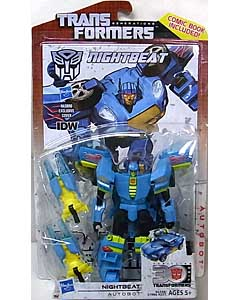 HASBRO TRANSFORMERS GENERATIONS DELUXE CLASS NIGHTBEAT [COMIC BOOK INCLUDED]