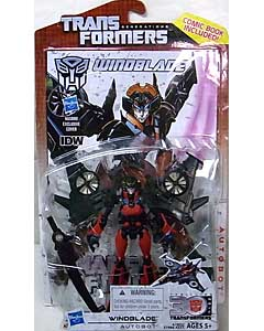 HASBRO TRANSFORMERS GENERATIONS DELUXE CLASS WINDBLADE [COMIC BOOK INCLUDED]