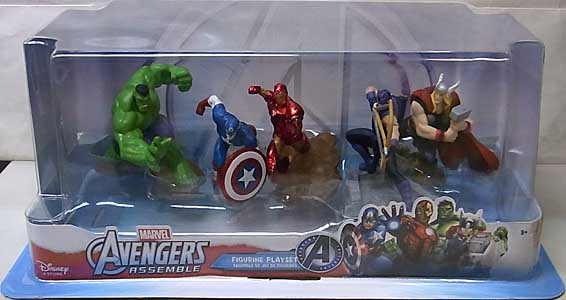 USA DISNEY STORE 限定 FIGURINE PLAYSET AVENGERS ASSEMBLE