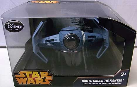 STAR WARS USAディズニーストア限定 DIE CAST VEHICLE DARTH VADER TIE FIGHTER パッケージ破れ特価