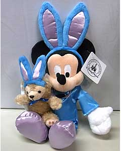 DISNEY USAディズニーテーマパーク限定 9INCH EASTER MICKEY MOUSE WITH DUFFY THE DISNEY BEAR