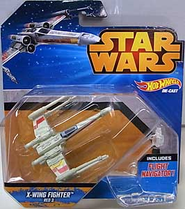 MATTEL HOT WHEELS STAR WARS DIE-CAST VEHICLE X-WING FIGHTER RED 3