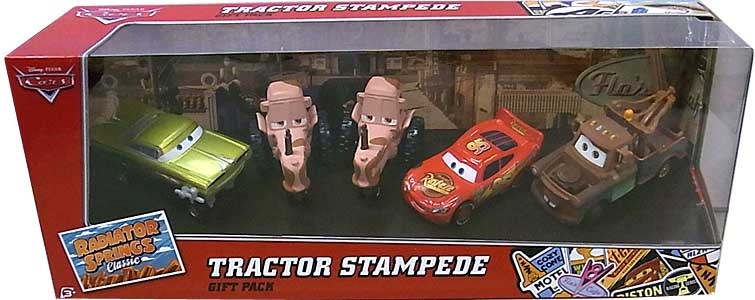 MATTEL CARS RADIATOR SPRINGS CLASSIC 5-CAR GIFT PACK TRACTOR STAMPEDE パッケージ傷み特価