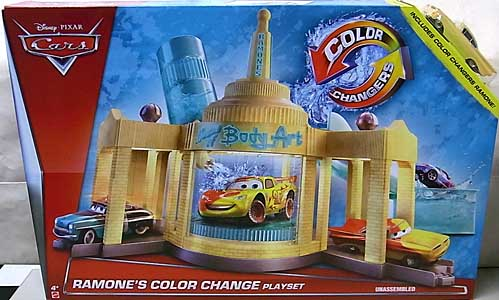 MATTEL CARS 2015 COLOR CHANGERS PLAYSET RAMONE'S COLOR CHANGE