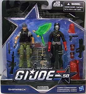 HASBRO G.I.JOE 50TH ANNIVERSARY 2PACK HUNT FOR COBRA COMMANDER 台紙傷み特価