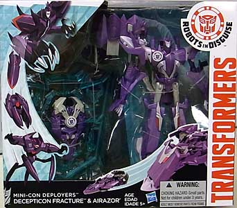 HASBRO アニメ版 TRANSFORMERS ROBOTS IN DISGUISE MINI-CON DEPLOYERS DECEPTICON FRACTURE & AIRAZOR