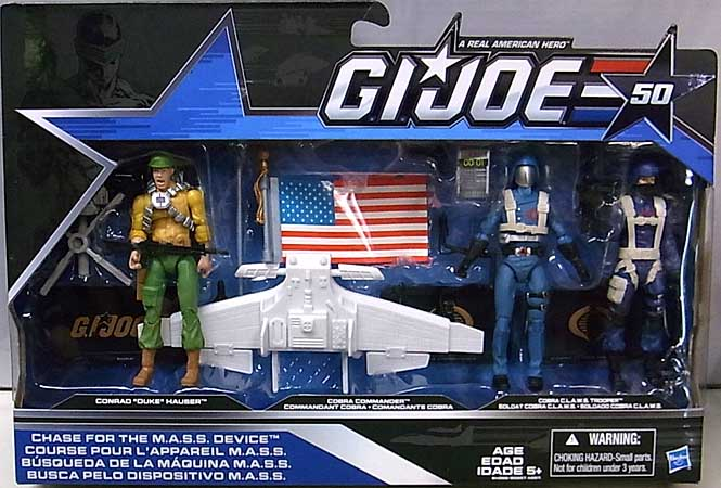 HASBRO G.I.JOE 50TH ANNIVERSARY 3PACK CHASE FOR THE M.A.S.S. DEVICE