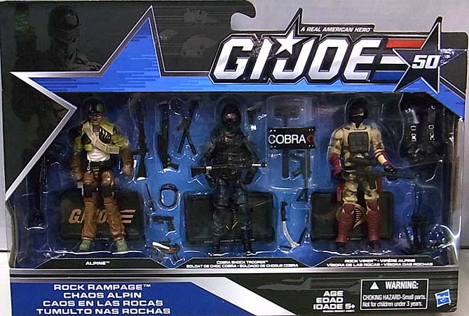 HASBRO G.I.JOE 50TH ANNIVERSARY 3PACK ROCK RAMPAGE