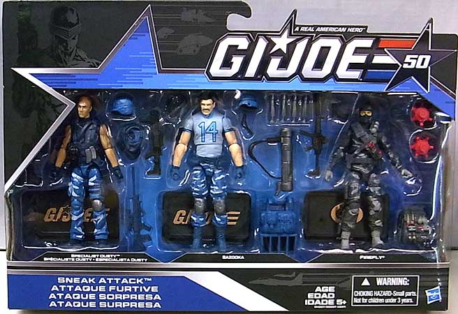 HASBRO G.I.JOE 50TH ANNIVERSARY 3PACK SNEAK ATTACK