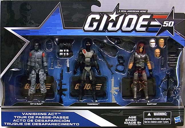HASBRO G.I.JOE 50TH ANNIVERSARY 3PACK VANISHING ACT パッケージ傷み特価