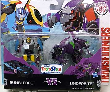 HASBRO アニメ版 TRANSFORMERS ROBOTS IN DISGUISE USA TOYSRUS限定 LEGION CLASS 2PACK BUMBLEBEE VS UNDERBITE