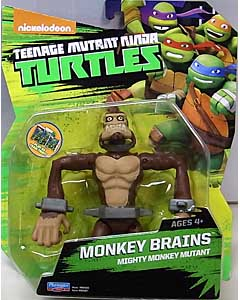 PLAYMATES NICKELODEON TEENAGE MUTANT NINJA TURTLES ベーシックフィギュア 2015 MONKEY BRAINS 台紙傷み特価