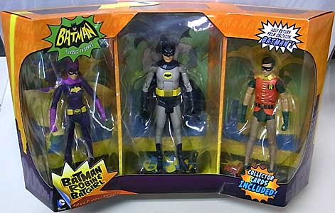 MATTEL BATMAN CLASSIC TV SERIES 6インチアクションフィギュア 3PACK BATMAN、ROBIN、BATGIRL