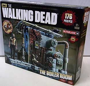 McFARLANE TOYS THE WALKING DEAD TV BUILDING SETS THE BOILER ROOM