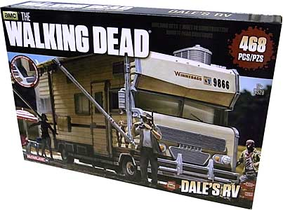 McFARLANE TOYS THE WALKING DEAD TV BUILDING SETS DALE'S RV