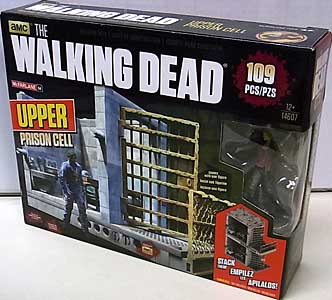 McFARLANE TOYS THE WALKING DEAD TV BUILDING SETS UPPER PRISON CELL [CAROL PELETIER]