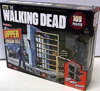 McFARLANE TOYS THE WALKING DEAD TV BUILDING SETS UPPER PRISON CELL [WALKER]