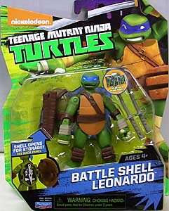 PLAYMATES NICKELODEON TEENAGE MUTANT NINJA TURTLES ベーシックフィギュア 2015 BATTLE SHELL LEONARDO
