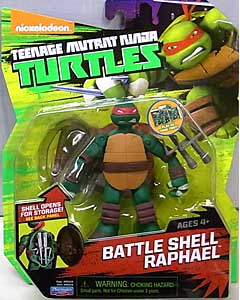 PLAYMATES NICKELODEON TEENAGE MUTANT NINJA TURTLES ベーシックフィギュア 2015 BATTLE SHELL RAPHAEL