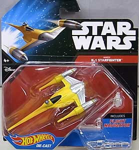MATTEL HOT WHEELS STAR WARS DIE-CAST VEHICLE NABOO N-1 STARFIGHTER