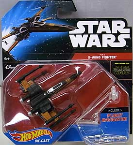 MATTEL HOT WHEELS STAR WARS THE FORCE AWAKENS DIE-CAST VEHICLE POE'S X-WING FIGHTER