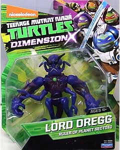PLAYMATES NICKELODEON TEENAGE MUTANT NINJA TURTLES ベーシックフィギュア 2015 DIMENSION X LORD DREGG 台紙傷み特価
