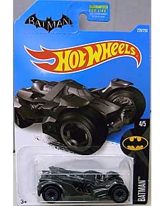MATTEL HOT WHEELS 1/64スケール 2016 BATMAN BATMAN: ARKHAM KNIGHT BATMOBILE #229