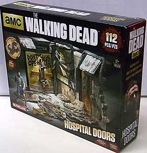 McFARLANE TOYS THE WALKING DEAD TV BUILDING SETS HOSPITAL DOORS