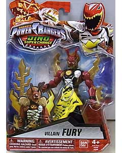 USA BANDAI POWER RANGERS DINO SUPER CHARGE 5インチアクションフィギュア VILLAIN FURY