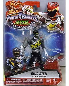 USA BANDAI POWER RANGERS DINO SUPER CHARGE 5インチアクションフィギュア DINO STEEL BLACK RANGER