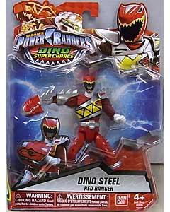 USA BANDAI POWER RANGERS DINO SUPER CHARGE 5インチアクションフィギュア DINO STEEL RED RANGER