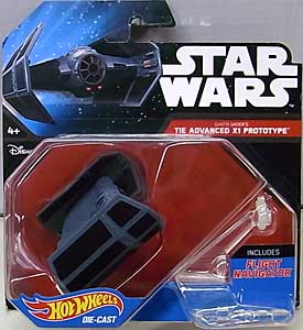MATTEL HOT WHEELS STAR WARS DIE-CAST VEHICLE DARTH VADER'S TIE ADVANCED X1 PROTOTYPE 台紙傷み特価