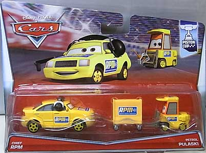 MATTEL CARS 2015 2PACK CHIEF RPM & PETROL PULASKI ブリスターワレ特価