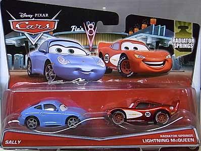 MATTEL CARS 2015 2PACK SALLY & RADIATOR SPRINGS LIGHTNING McQUEEN 台紙傷み特価